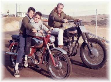 My Dad, my big brother and me in 1967.