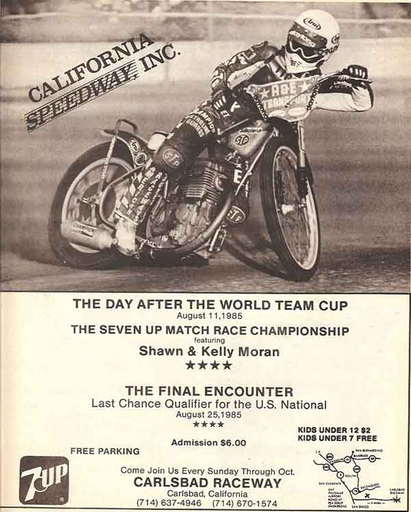 Speedway Ad from August 1985
