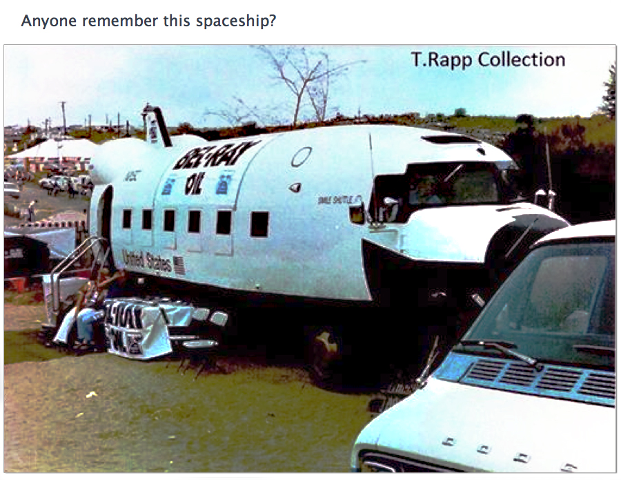 "John Taylor sent in this photo from Rapp's treasure chest of Motocross photos.  Photos are great to revive the memory.  I had forgotten about this thing being in the pits at the ""Bel-Ray"" USGP.  Looks like they made it out of a DC-3 / C-47.  Thanks John."