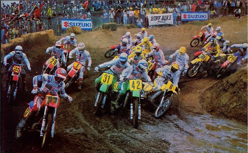 1982 USGP in the rain. MX photo